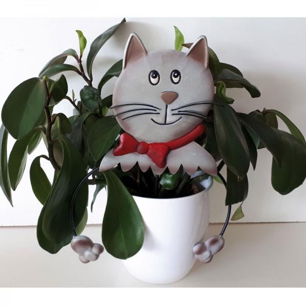 Blumenstecker Katze