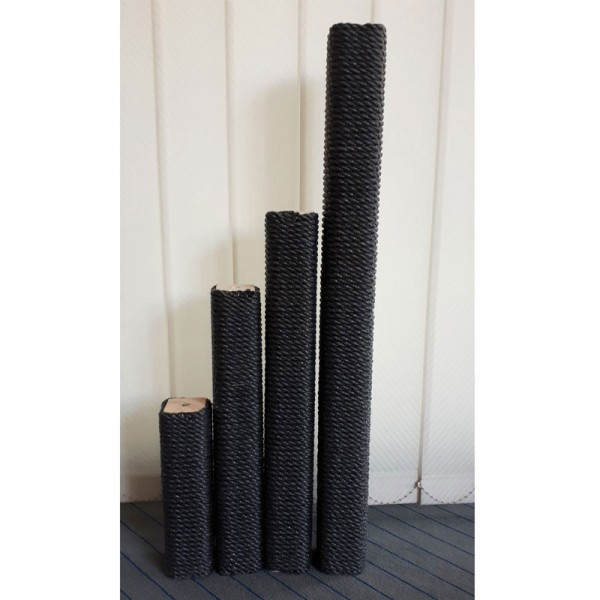Vierkant-Säulen Kunststoffsisal schwarz