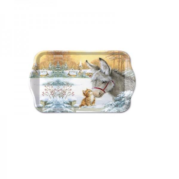 Tablett Donkey and Kitten klein, 13 x 21 cm