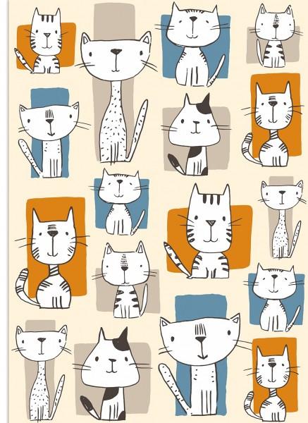 Küchentuch Lustige Katzen