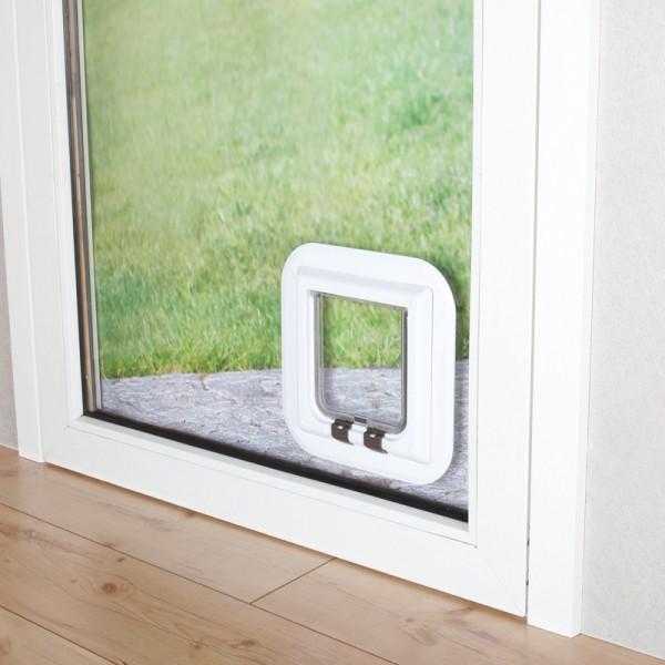 4-Wege-Freilauftür für Glas