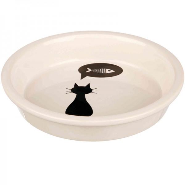 Keramiknapf Katze und Fisch