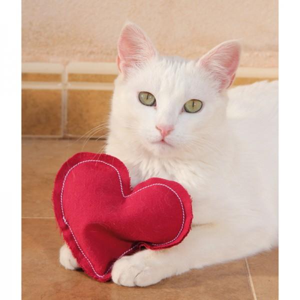 Herzkissen mit Catnip Füllung