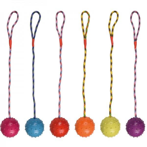 Gummiball mit Schelle und Seil