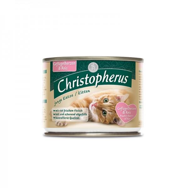 Christopherus Junge Katze - Geflügelherzen + Reis