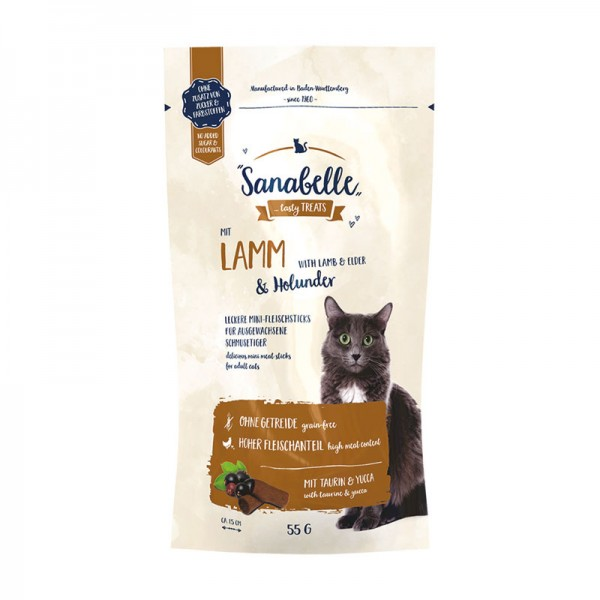 Sanabelle Cat-Sticks Lamm & Holunder