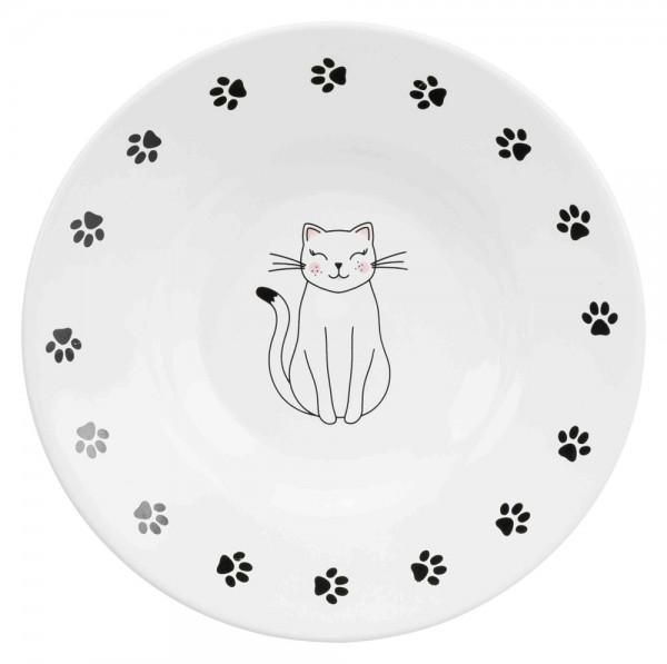 Keramiknapf Katze mit Pfoten