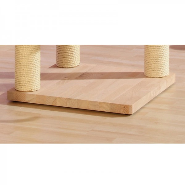 Bodenplatte Buchenholz mit 3 Bohrungen 59,5 x 59,5 x 4,5 cm