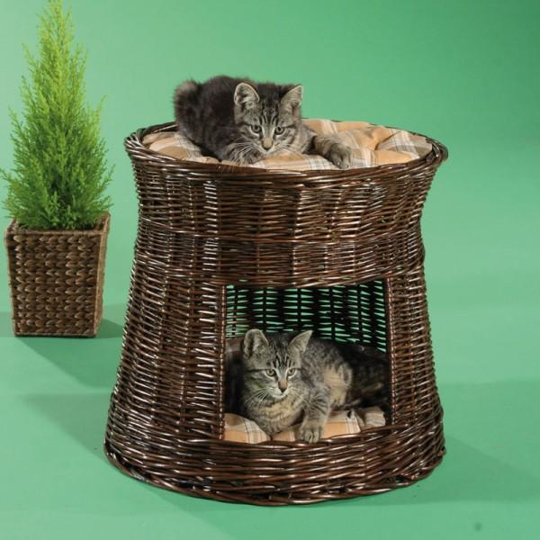 Katzenwohnturm braun